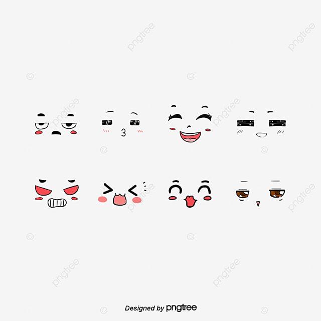 Annabella 67 Art Line Design : الوجوه الكرتونية كرتون التعبير رسوم متحركة png صورة