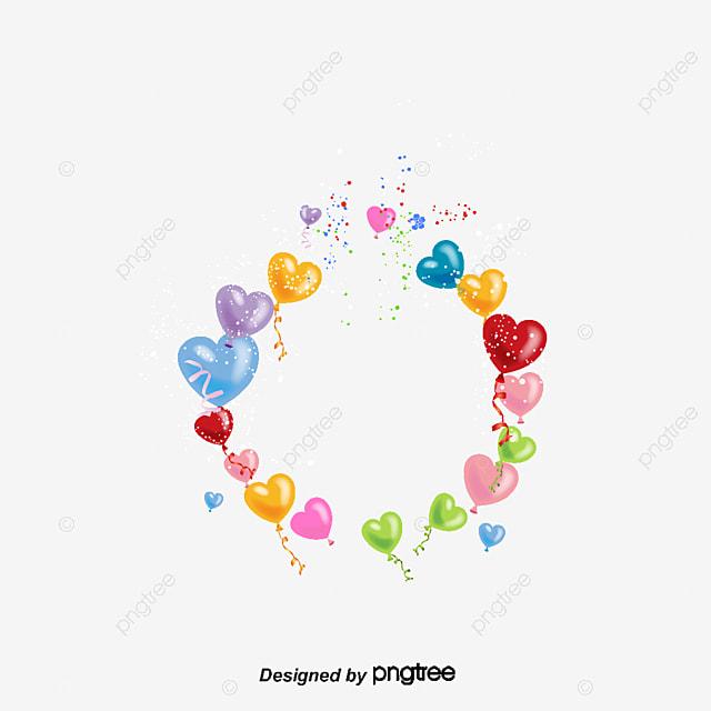 les  u00e9l u00e9ments de ballonnet couleur de fond ambiance de f u00eate