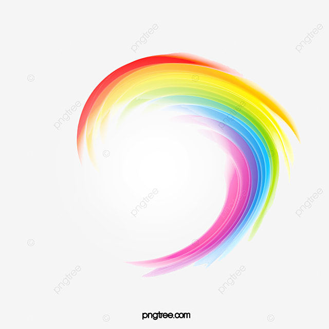 rainbow color multicolored png and psd - Rainbow Color