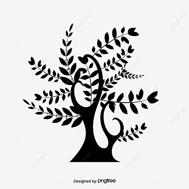 Tree Silhouette Black Tree Vector Png And Vector For