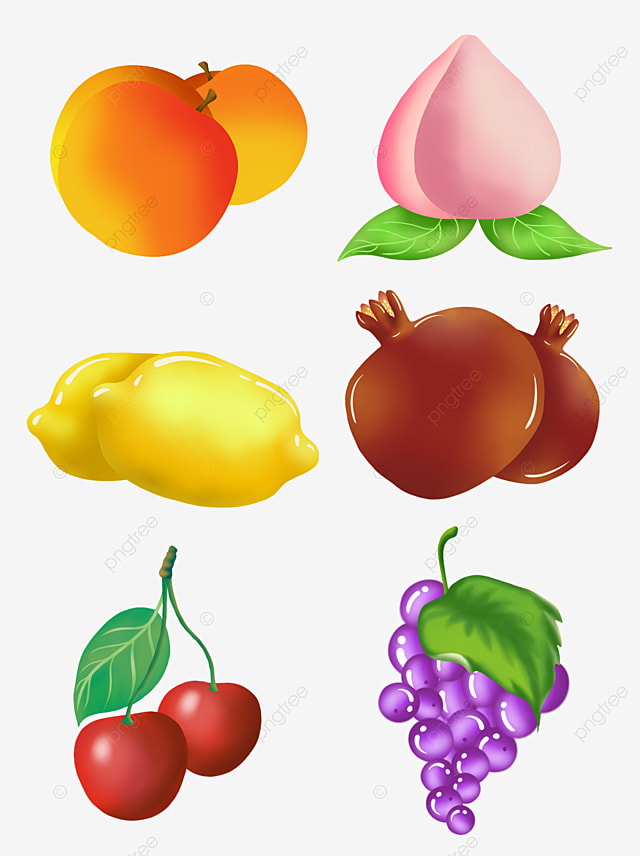 3d silhouette 3d cartoon fruitscreative fruits and