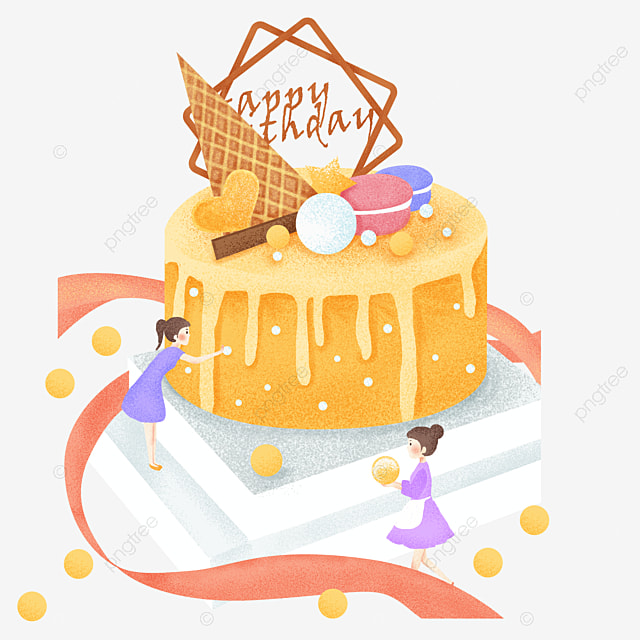 Beautiful Birthday Cake Fine Birthday Cake PNG and Vector for