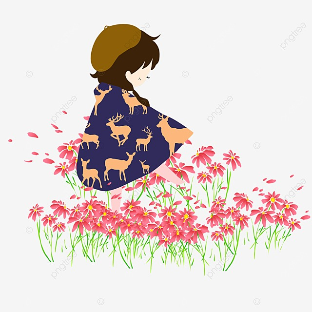 Japanese Cartoon Decoration Pictures Wilted Flower ...