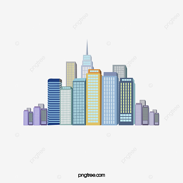Virtual City Skyscrapers Buildings High Rise Building PNG Image
