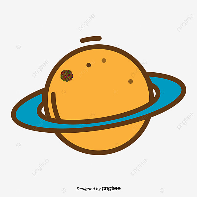 Cartoon Planet Flat Cartoon Flat Planet Png And Vector