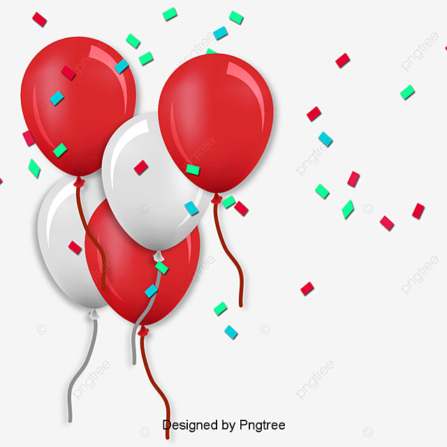 red birthday balloon images