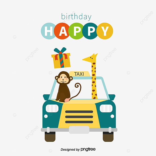Happy Birthday Monkey Gift Box Png And Vector For Free Download