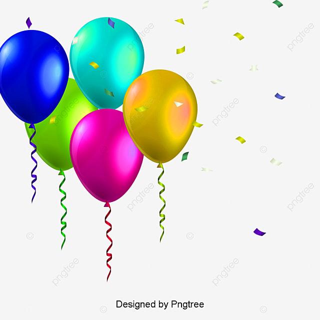 Birthday Balloons Images Part - 31: Birthday Balloons, Colored Balloons, Birthday Vector PNG And Vector