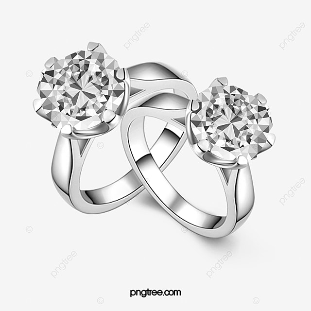 Couple Ring Lovers Diamond Ring Diamond PNG and PSD File for Free