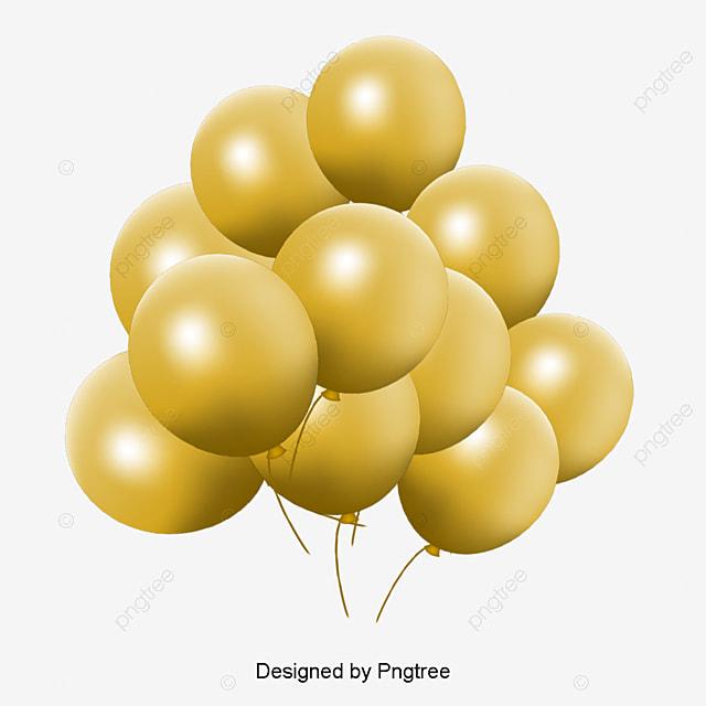 Globo De Oro Golden Balloon Pictures Balloon Archivo PNG y PSD para ...