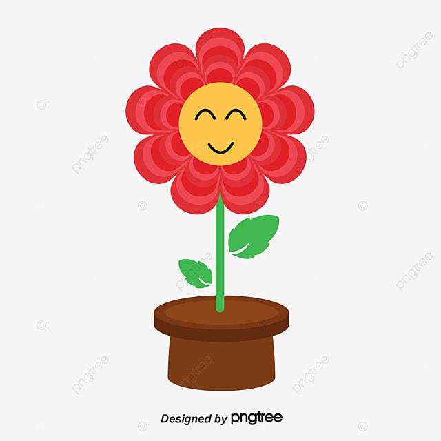 Pote De La Flor Infantil Cartoon Elemento Png Y Vector Para