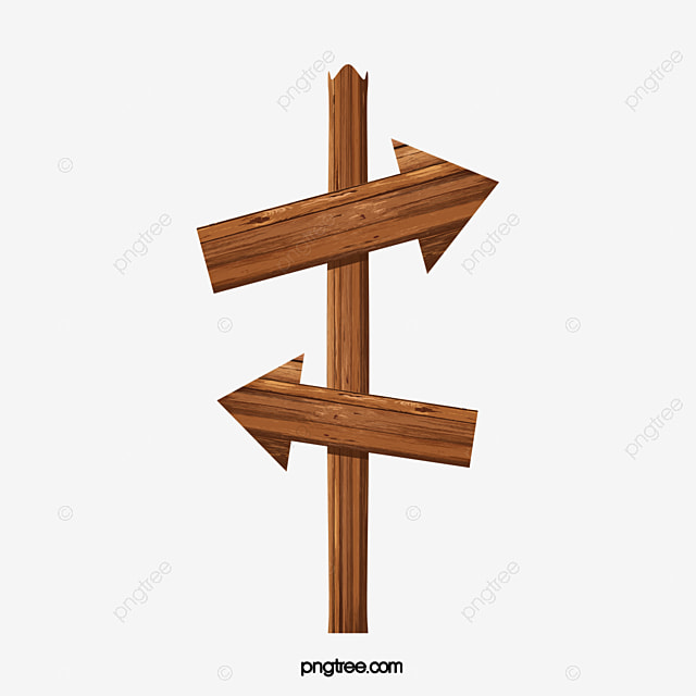 Exquisite Wooden Arrow Signs Fine Wood Indicator PNG And Vector