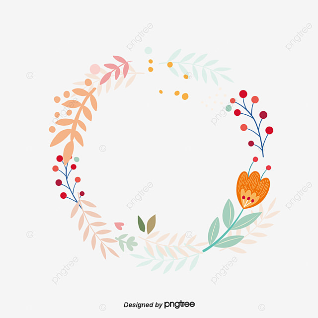 Wreath Cartoon Flowers Vector Png And Vector For Free Download