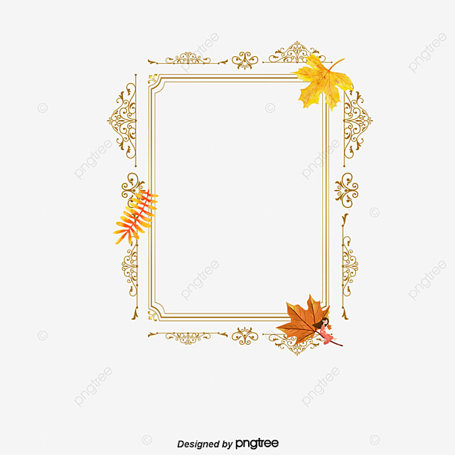 autumn leaves border  akiba  frame  decoration png and psd