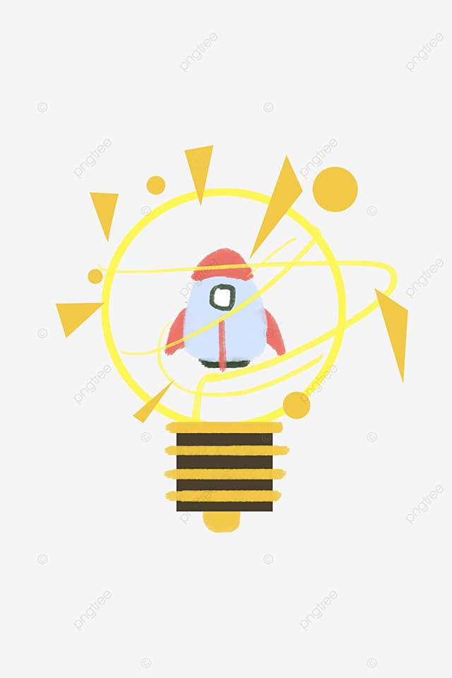 Digital marketing light bulb creative flat vector material for Digital marketing materials