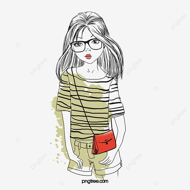 dessin fille porte des lunettes la femme d illustrations