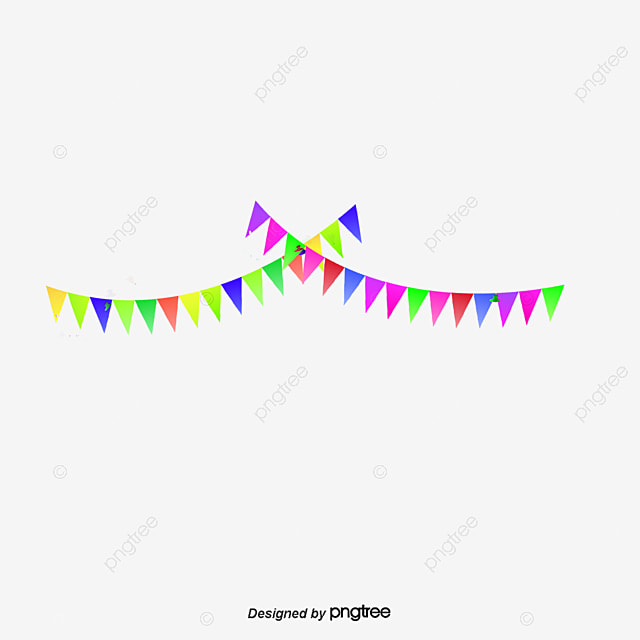 Color Colorido Festival Festivo Banderin Tira Colgando Bandera ...