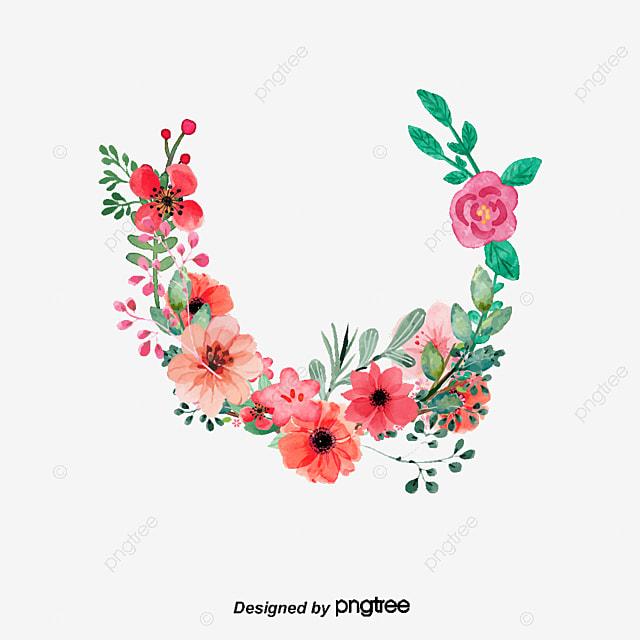 la couronne de fleur exquise de dessin dessin peint  u00e0 la