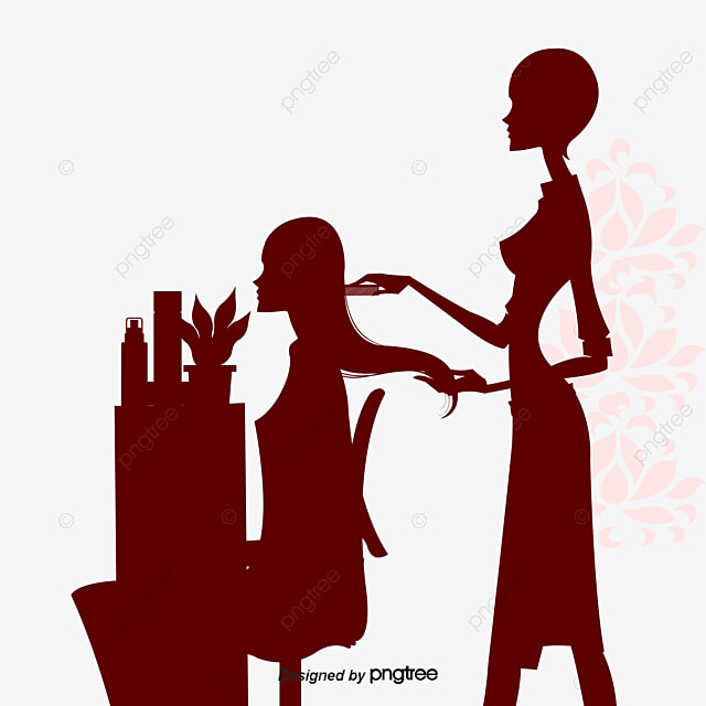 Vector Beauty Salons Cartoon Girlfriends Free PNG And
