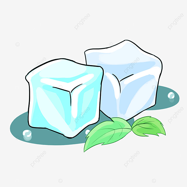Ice Cubes And Mint Leaves Leaf Effect PNG Image Clipart