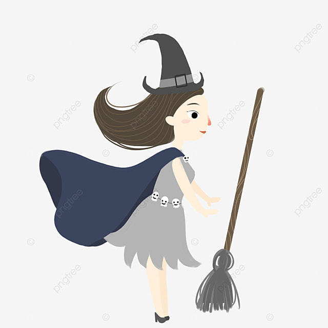 halloween flying witch vector material halloween vector woman witch png and vector