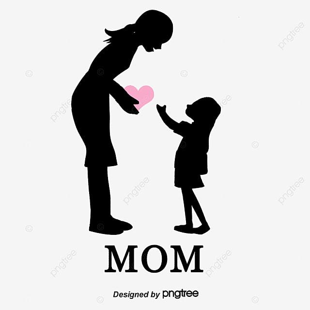 Madre E Hija Silueta Cifras Madre E Hija Silueta Cifras Madre