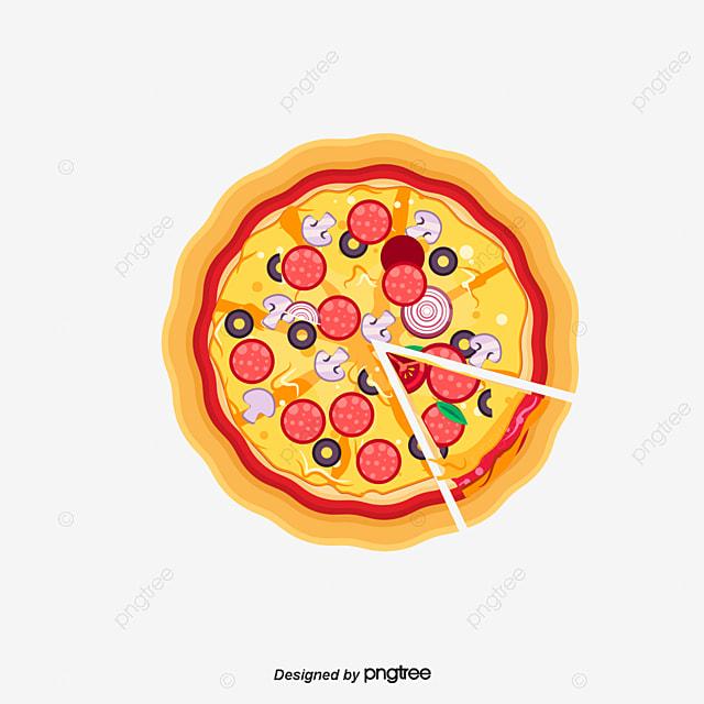 Le dessin de la pizza en mati re de vecteur le dessin de - Clipart cuisine gratuit ...