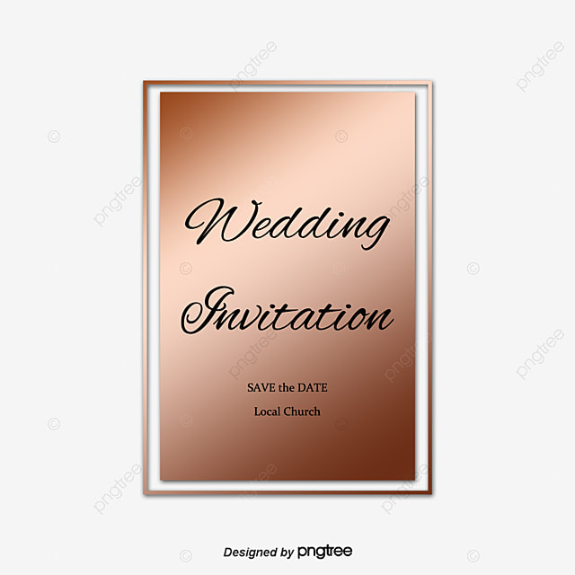 Wedding Elements Vector Wedding Invitation Png And Vector For