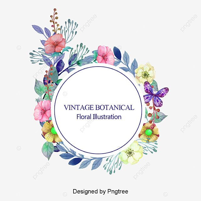 Circulo Decorativo Flores Png