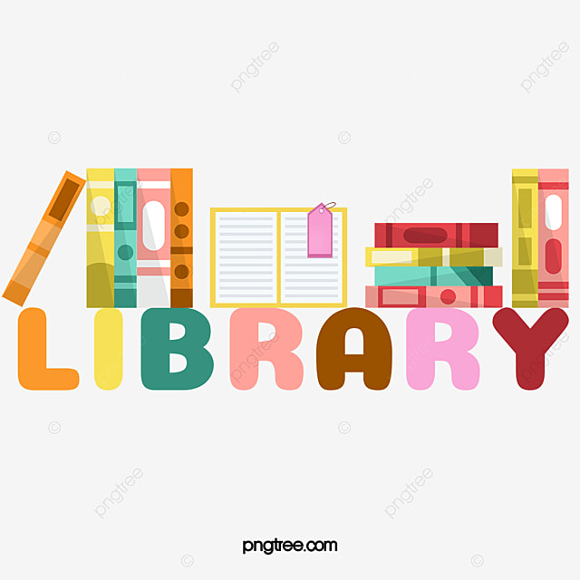 Creative Combination Of Library Books Logo Vector Material ...