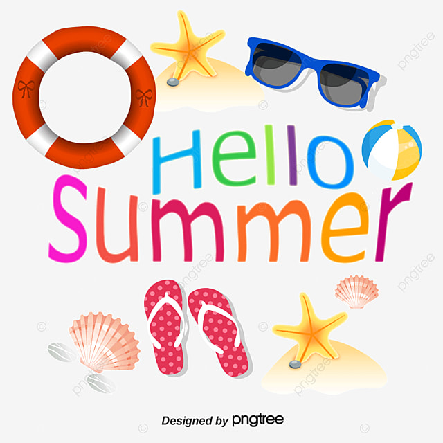 Summerhello Summerfontsdecorative Fontsvectorbeach Style Summer