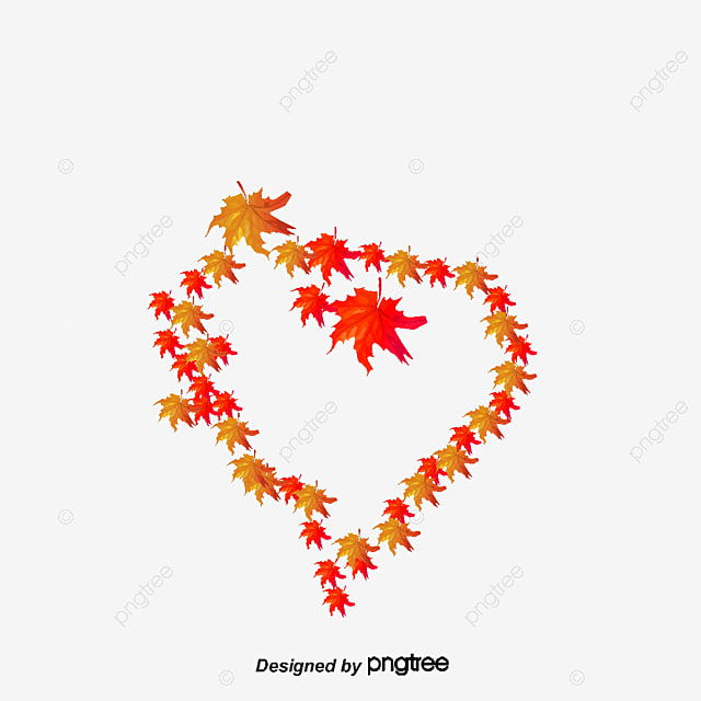 Charmant Autumn Leaves Heart, Fall, Leaves, Heart PNG And Vector