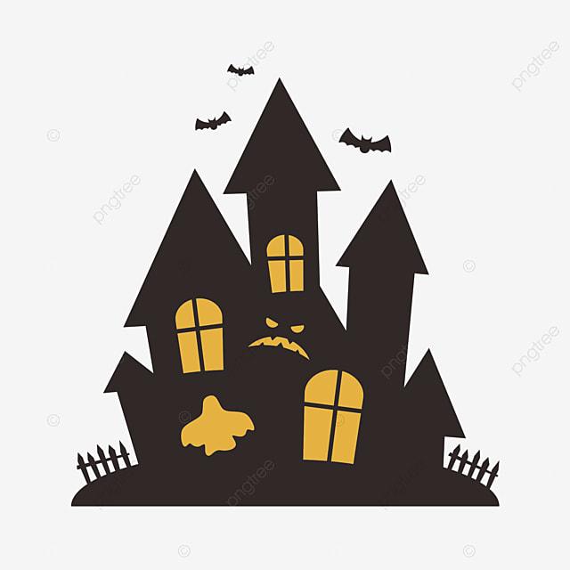 halloween haunted house silhouette halloween haunted house sketch