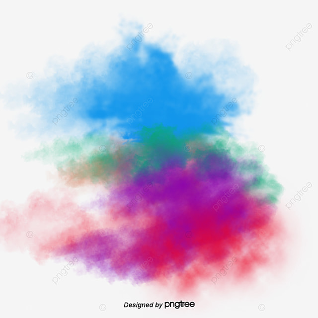 Water Color Ink Effect Element PNG And PSD