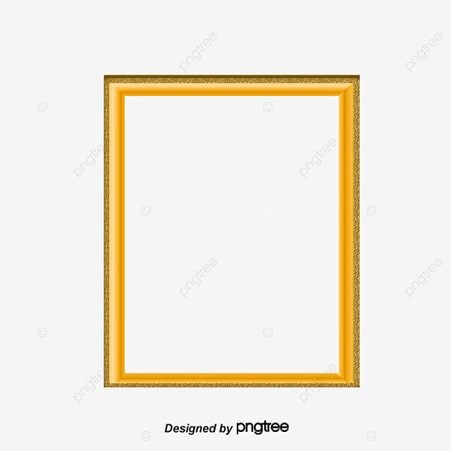 European Border, Gold Frame, Gold PNG and PSD File for Free Download