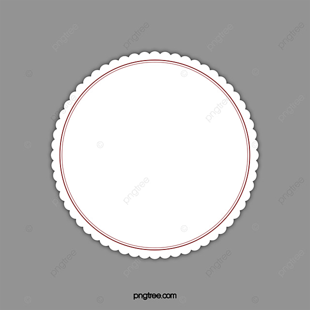 Circular Border Round Frame Lace Png Image And Clipart
