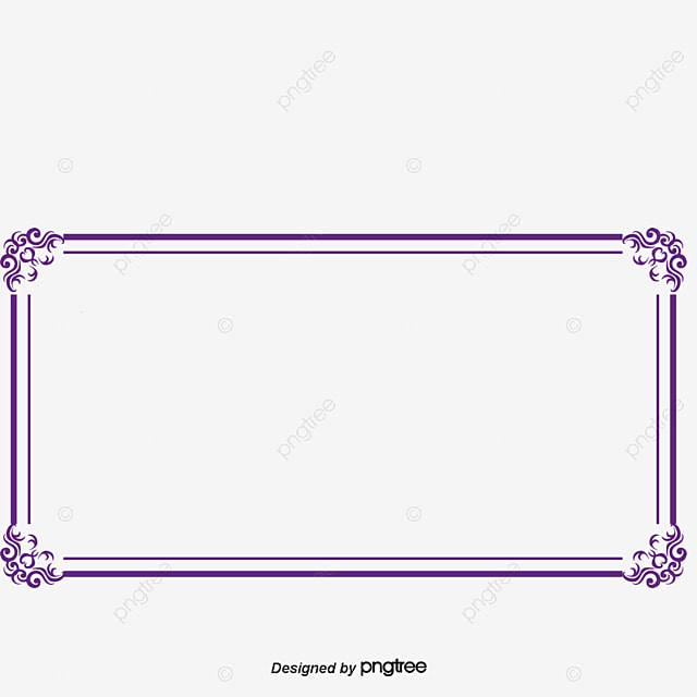purple border frame box png and psd file for free download