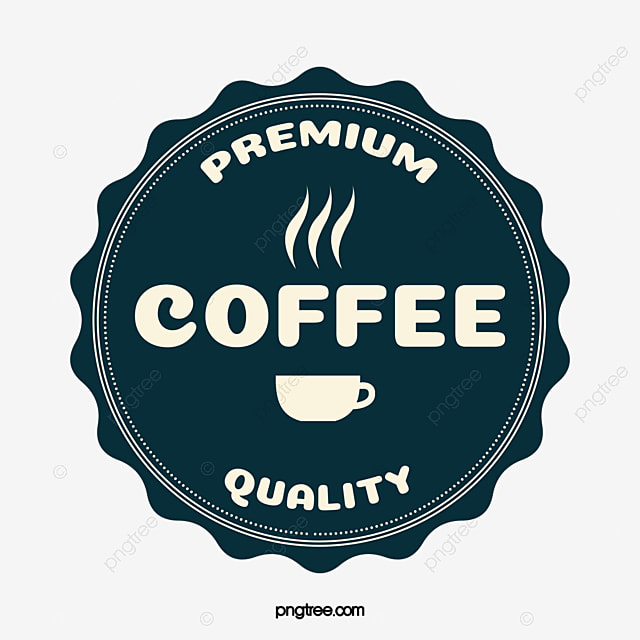 Coffee label image, Coffee, Logo Mark Icon, Mark PNG and Vector