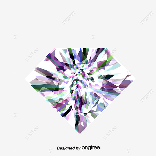Decorative elements of colored diamonds, Black And White, Diamond, Decoration PNG and Vector