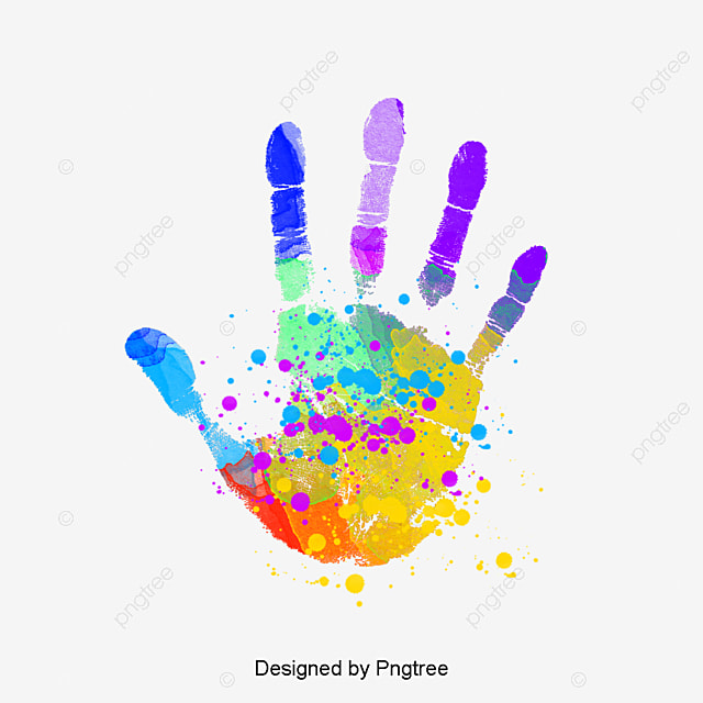 Handprint, Graffiti Fingerprints, Color Splash PNG Image