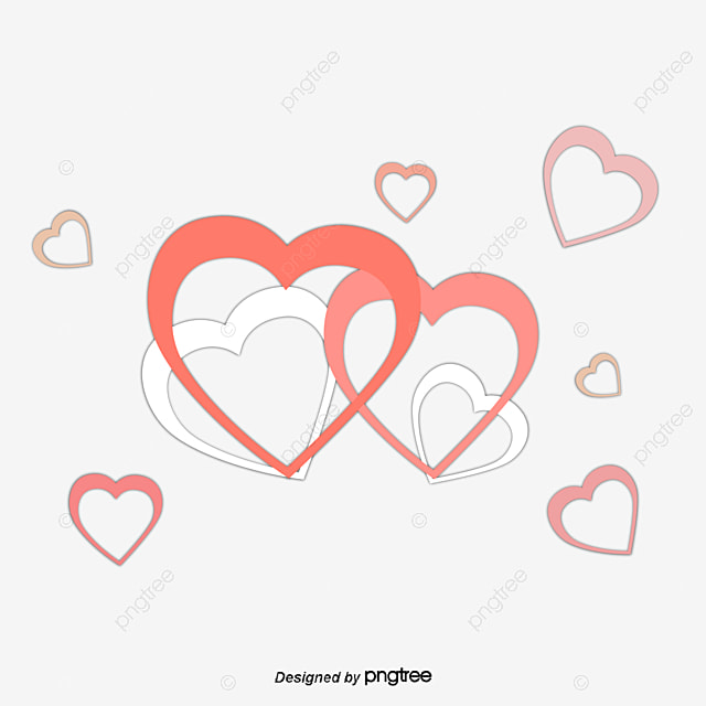 red double heart decoration heart vector decoration