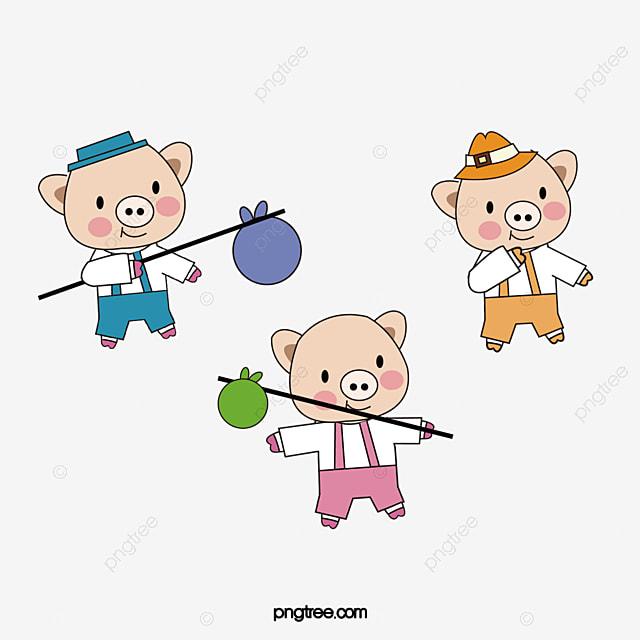 os tr u00eas porquinhos  os tr u00eas porquinhos  porco dos desenhos animados  61 arquivo png e psd para fairytale clip art creative commons fairytale clip art creative commons