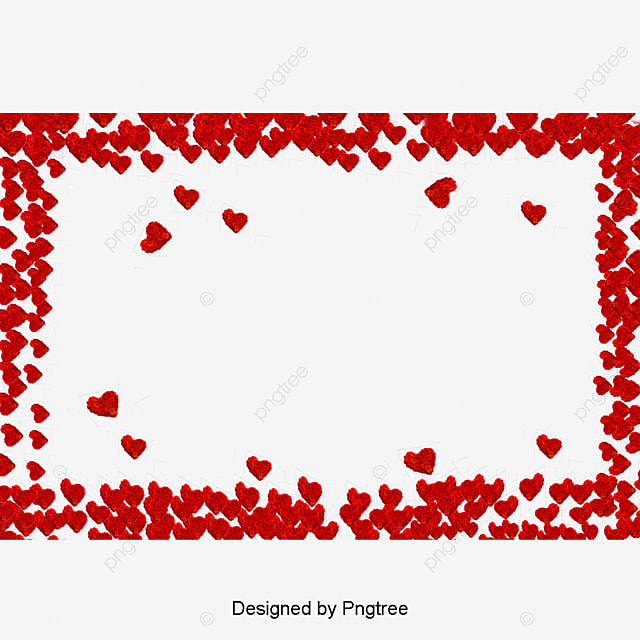 Red Hearts Border, Red, Heart, Frame PNG and Vector for Free Download