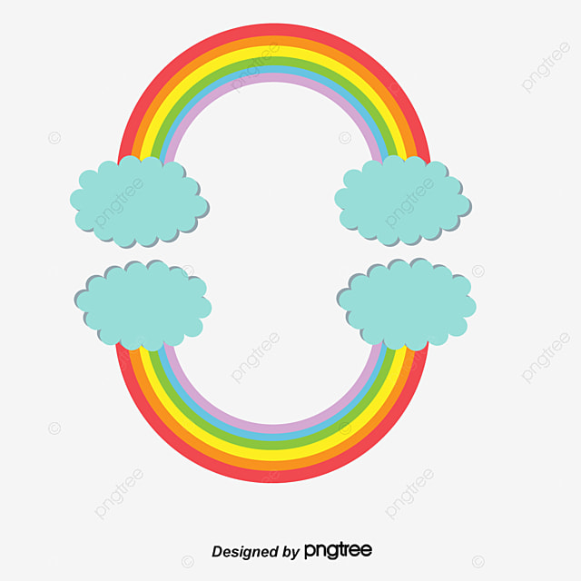 Rainbow Border, Rainbow, Frame, Lovely PNG and PSD File for Free ...