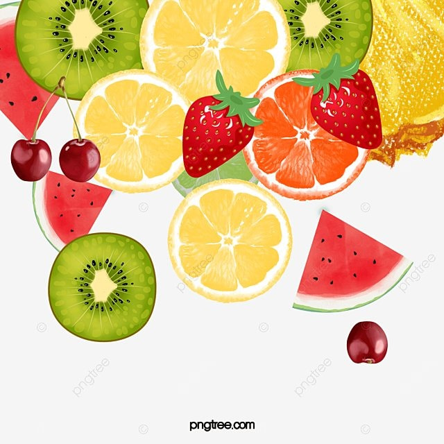 Fruit Fruit Fun, Fruit, Decoration, Colorful Fruit PNG Image and ...