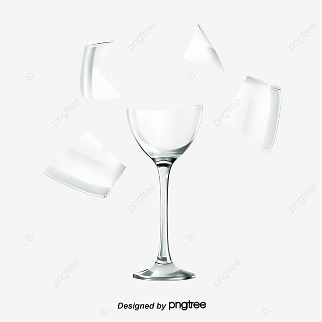 Cup Broken Glass Broken Png And Psd File For Free Download