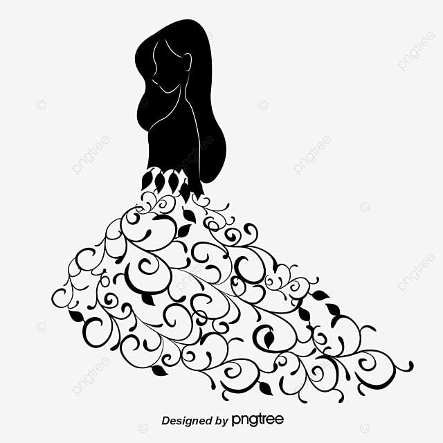 Creative Wedding Silhouette Vector Material, Creative