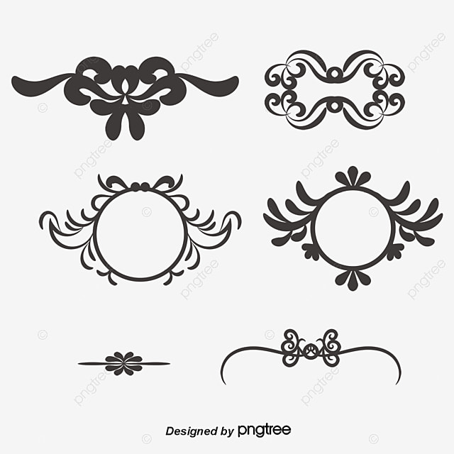 European pattern border, Pattern, Continental Shading, Shading PNG and Vector