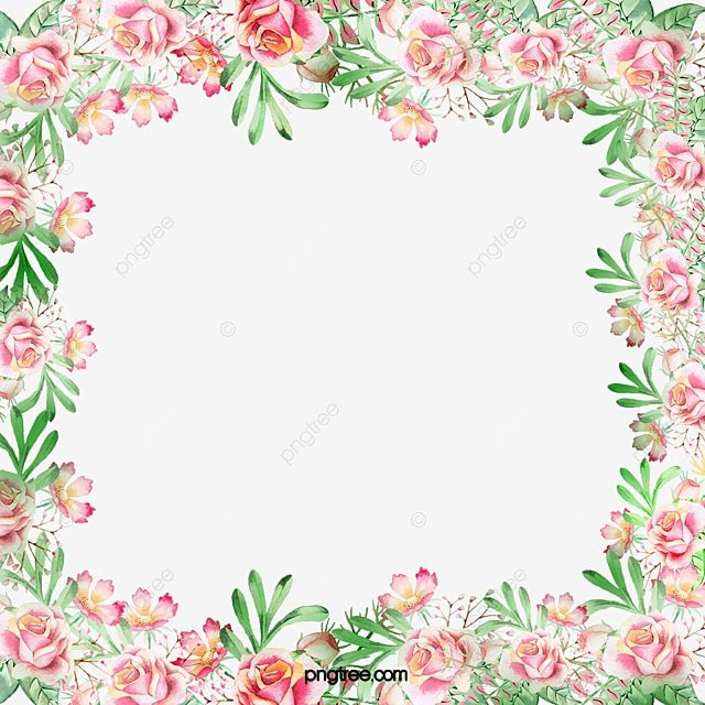 moldura de flores flores moldura as folhas arquivo png e