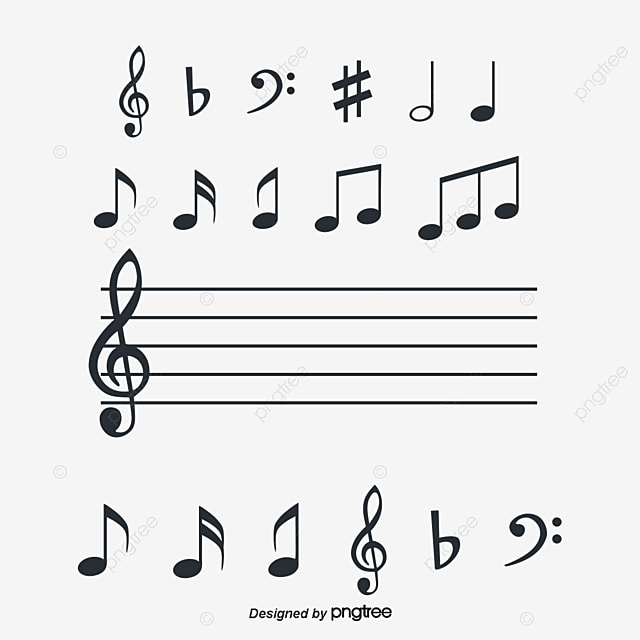 musical note symbol stave music png and vector for free download rh pngtree com Thank You Wine Trumpet Notes